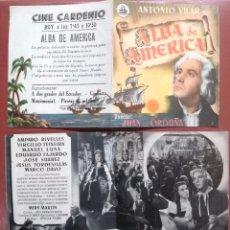 Cine: - ALBA DE AMERICA, ANTONIO VILAR--CINE CARDENIO,AYAMONTE,HUELVA---. Lote 95798731