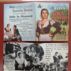 Cine: LOLA LA PICONERA JUANITA REINA CIFESA- FOLLETO DE MANO ORIGINAL --CINE CARDENIO,AYAMONTE,HUELVA---. Lote 95799239