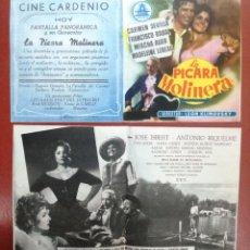 Cine: PROGRAMA DE MANO ORIGINAL DOBLE - LA PICARA MOLINERA--CINE CARDENIO,AYAMONTE,HUELVA---. Lote 95799567