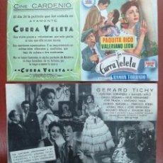 Cine: CURRA VELETA. PAQUITA RICO-VALERIANO LEON-DOBLE CIFESA---CINE CARDENIO,AYAMONTE,HUELVA--. Lote 95799759