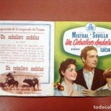 Cine: UN CABALLERO ANDALUZ, CON CARMEN SEVILLA.---CINE CARDENIO,AYAMONTE,HUELVA--. Lote 95799875