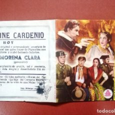 Cine: PROGRAMA DE MANO ORIGINAL DOBLE - MORENA CLARA ---CINE CARDENIO,AYAMONTE,HUELVA--. Lote 95799919