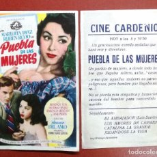 Cine: PROGRAMA PUEBLA DE LAS MUJERES - MARUJITA DIAZ, RUBEN ROJO ---CINE CARDENIO,AYAMONTE,HUELVA--. Lote 95800091