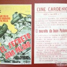 Cine: EL SECRETO DE JUAN PALOMO PROGRAMA SENCILLO CIFESA JULIAN SOLER CH---CINE CARDENIO,AYAMONTE,HUELVA--. Lote 95800195