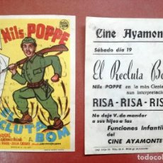 Cine: EL RECLUTA BOM - NILS POPPE, INGA LANDGRÉ ----CINE CARDENIO,AYAMONTE,HUELVA--. Lote 95800331