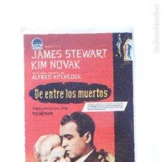 Cine: PROGRAMA DE CINE - DE ENTRE LOS MUERTOS - CON PUBLICIDAD - AÑO 1959 - FOTO DORSO -. Lote 95800627
