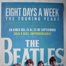Cine: THE BEATLES, DE RON HOWARD. POSTER 68 X 98 CMS. 2016.. Lote 95819515