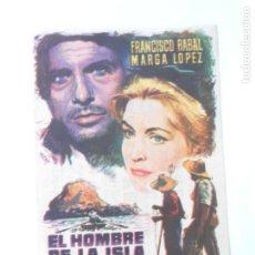 Cine: PROGRAMA DE CINE - EL HOMBRE DE LA ISLA - CON PUBLICIDAD - AÑO 1962 - FOTO DORSO -. Lote 95824363