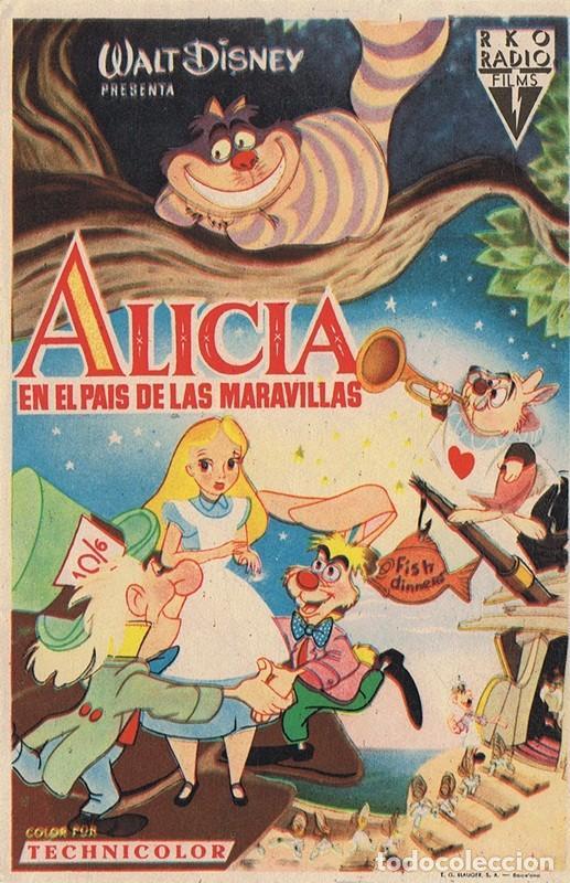 ALICIA EN EL PAÍS DE LAS MARAVILLAS (Cine - Folletos de Mano - Infantil)