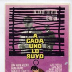 Cine: A CADA UNO LO SUYO, CON IRENE PAPAS. S/I.. Lote 95969779