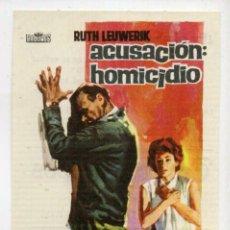 Cine: ACUSACIÓN: HOMICIDIO CON RUTH LEUWERICK. C/I.. Lote 96055719