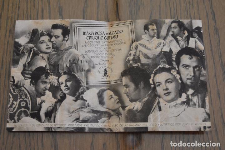 Cine: DON JUAN. J. L. SÁENZ DE HEREDIA. ANTONIO VILAR. ANNABELLA. DOBLE. CINE COLISEUM, RUBI. LITERACOMIC. - Foto 2 - 96057995