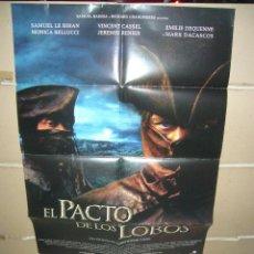 Cine: EL PACTO DE LOS LOBOS POSTER ORIGINAL 70X100 YY(1649). Lote 96062807