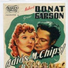 Cine: ADIOS MR.CHIPS, CON ROBERT DONAT. C/I.. Lote 96067623