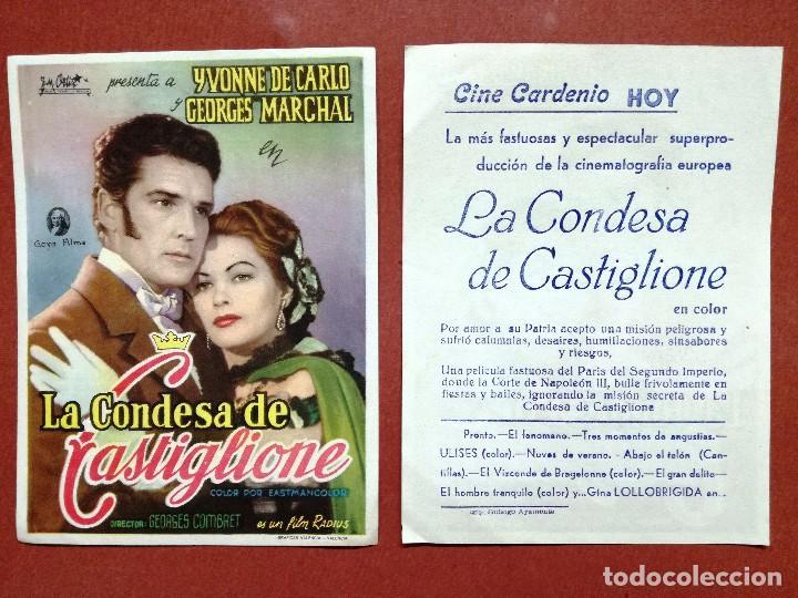 LA CONDESA DE CASTIGLIONE - YVONNE DE CARLO, GEORGES MARCHAL --CINE CARDENIO AYAMONTE(HUELVA)-- (Cine - Folletos de Mano - Clásico Español)