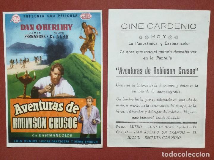AVENTURAS DE ROBINSON CRUSOE ---CINE CARDENIO AYAMONTE(HUELVA)-- (Cine - Folletos de Mano - Clásico Español)