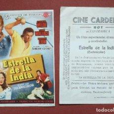 Flyers Publicitaires de films Anciens: PROGRAMA DE MANO . ESTRELLA DE LA INDIA ,--CINE CARDENIO AYAMONTE(HUELVA)-- . Lote 115918104