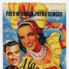 A LA HABANA ME VOY, con Carmen Miranda. C/I.