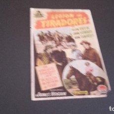Cine: PROGRAMA DE MANO ORIGINAL - LECION DE TIRADORES - SIN PUBLICIDAD CINE . Lote 96432087