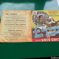 Cine: PROGRAMA DE CINE DOBLE. LA HERMANA SAN SULPICIO. CINE MODERNO DE LLORET DE MAR ( GERONA). Lote 96442048