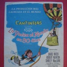 Cine: FOLLETO,CINE PALAFOX (ZARAGOZA) -CANTINFLAS LA VUELTA AL MUNDO EN 80 DIAS-VER DESCRIPCIÓN-.. R -7056. Lote 96445647