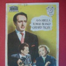 Cine: FOLLETO, PROGRAMA CINE , SIN PUBLICIDAD - QUEMA EL SUELO , AÑO 1952 - VER DESCRIPCIÓN-.. R -7058. Lote 96446663