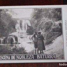 Cine: PROGRAMA DE LA PELICULA NOBLEZA BATURRA, AÑOS 20, ZARAGOZA, CON ELENA ANTOLIN Y JULIO PERALTA, MIDE. Lote 96671059