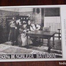 Cine: PROGRAMA DE LA PELICULA NOBLEZA BATURRA, AÑOS 20, ZARAGOZA, CON ELENA ANTOLIN Y JULIO PERALTA, MIDE. Lote 96671087