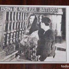 Cine: PROGRAMA DE LA PELICULA NOBLEZA BATURRA, AÑOS 20, ZARAGOZA, CON ELENA ANTOLIN Y JULIO PERALTA, MIDE. Lote 96671123