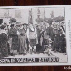 Cine: PROGRAMA DE LA PELICULA NOBLEZA BATURRA, CINE MUDO, AÑOS 20, ZARAGOZA, CON ELENA ANTOLIN Y JULIO PE. Lote 96671595