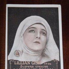 Cine: PROGRAMA TARJETA DE LA PELÍCULA LA HERMANA BLANCA (1923), DIRIGIDA POR HENRY KING Y PROTAGONIZADA PO. Lote 96740187
