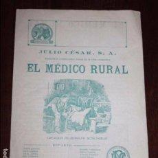 Cine: EL MEDICO RURAL, PROGRAMA GRANDE DOBLE, AÑOS 20, CREACION DE RODOLFO SCHILDKRAUT, JULIO CESAR S.A., . Lote 96744667