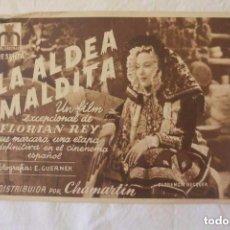 Cine: FOLLETO MANO CINE LA ALDEA MALDITA. Lote 96802063