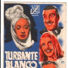 Cine: TURBANTE BLANCO - PROGRAMA DE CINE BADALONA 1944 C/P. Lote 96897507