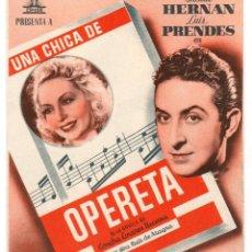 Cinema - Opereta - Programa de cine Badalona 1944 C/P - 96898431