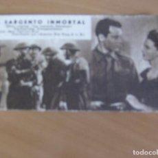 Cine: EL SARGENTO INMORTAL - HENRY FONDA , REGINALD GARDINER - FOLLETO TARJETA DE MANO DE CENTURY FOX. Lote 97055975