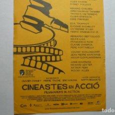 Cine: FOLLETO CINEASTES EN ACCIO.-PUBLICIDAD DORSO CINE VERDI 2006. Lote 97094835