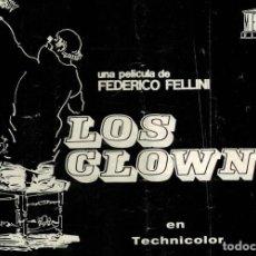 Cine: LOS CLOWNS. FEDERICO FELLINI.. Lote 97151155