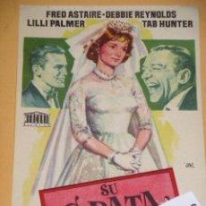 Cine: SU GRATA COMPAÑIA, FRED ASTAIRE, DEBBIE REYNOLDS, PROGRAMA FOLLETO DE MANO, ERCOM. Lote 97153811
