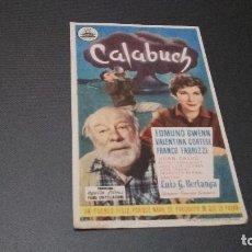 Cine: PROGRAMA DE MANO ORIG - CALABUCH - PUBLI CINE DE AYAMONTE (PEDIDO MINIMO 5 EUROS). Lote 97339951