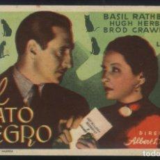 Cine: P-7162- EL GATO NEGRO (THE BLACK CAT) (DISTRIBUIDORA SALINAS PASTOR) BASIL RATHBONE. Lote 97378543