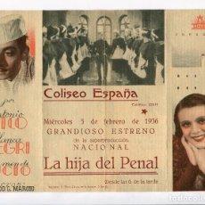 Cine: LA HIJA DEL PENAL, CON ANTONIO VICO. C/I.. Lote 97399055