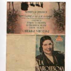 Cine: LA MARQUESONA, CON PASTORA IMPERIO. S/I.. Lote 97404607
