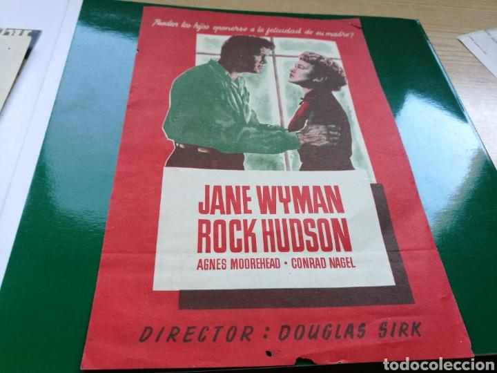 PROGRAMA DE CINE GRANDE SOLO EL CIELO LO SABE, POR ROCK HUDSON (Cine - Folletos de Mano - Suspense)