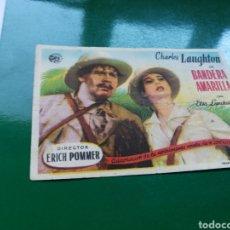 Cine: PROGRAMA DE CINE SIMPLE BANDERA AMARILLA. CON PUBLICIDAD DEL TEATRO CINE AVENIDA DE SORIA. Lote 97499322