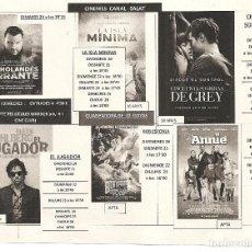 Cine: PROGRAMA LOCAL DE CINE. Lote 97508043