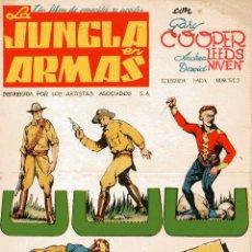 Cine: LA JUNGLA EN ARMAS-GARY COOPER,HENRY HATAWAY 1939 FOLLETO RECORTABLE CINES CAPITOLIO Y METROPOLI. Lote 97540091