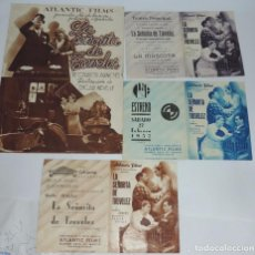 Cine: REVISTA LA SEÑORITA DE TREVELEZ, ATLANTIC FILMS, JUNTO CON 3 VARIANTES DE PROGRAMAS CON PUBLICIDAD, . Lote 97567903