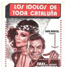 Cine: SARA MONTIEL PACO MORAN TAXI VAMOS AL VICTORIA PROGRAMA SENCILLO TEATRO VICTORIA BARCELONA. Lote 97722239