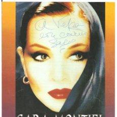 Cine: SARA MONTIEL EN CONCIERTO AUTOGRAFO PROGRAMA DOBLE CENTRO CULTURAL DE LA VILLA 1998. Lote 97723039